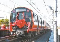 中車長春軌道客車股份有限公司生產的首批美國波士頓橙線地鐵車在長春下線