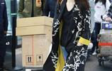 47歲袁詠儀又換新發型,穿衛衣配牛仔裙太減齡,扎高馬尾辮更少女