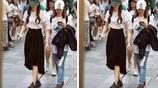 組圖:Angelababy穿著普通成都太古裡逛街 無遮掩誤入街拍鏡頭