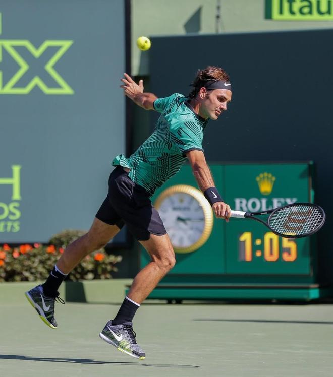 網球——邁阿密公開賽:費德勒晉級