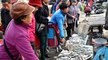 青島早市 蛤蟆魚8塊一斤 小雜魚15元兩斤 純正本地貨 大媽排隊買