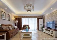 128平米三室兩廳,衛生間乾溼分離,定製的壁櫃非常完美
