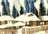 老樹畫畫:寒冬風雪夜,花生二鍋頭