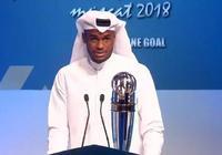 卡塔爾的哈桑榮獲本年度的亞洲足球先生,看來武磊明年有希望了