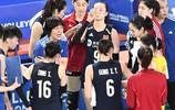 世界女排聯賽江門站比賽,中國女排0比3負於美國女排