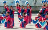 陝西渭南:市民公園的扇子舞圖紀 宋渭濤 攝影