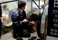 粗心主人沒裝籠,狗狗小腳被捲進車站電扶梯!淒厲狂叫讓你心疼!