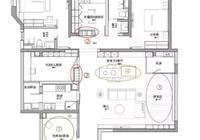 165平的現代簡約風大宅,客餐廳的設計寬敞而又大氣