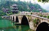 貴州鎮遠古鎮,遠觀頗似太極圖