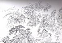 山水畫自學教程:山水畫速寫技法,山水畫寫生方法