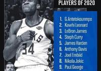 近日美媒評選出NBA2020賽季聯盟前10球星,威少落選,哈登第5,你怎麼看?