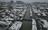 春節無錫突降大雪 古運河景區變身水墨江南