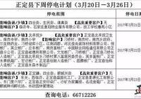 「停電」正定縣下週停電計劃(3月20日—3月26日)