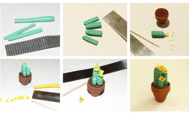 超輕粘土製作微型仙人掌 萌化人心的仙人掌製作方法