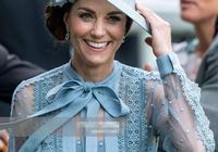 凱特夫婦出席賽馬會!王妃穿半透明藍裙驚豔了,威廉戴上帽子超帥