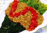 豆瓣醬,剁椒菠菜