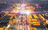 大年初一晚上 為看西安最火爆的幾處景點擠破頭了,交通十分擁堵