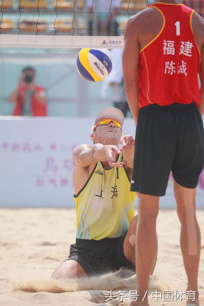 第十三屆全運會沙灘排球男子決賽 上海隊高鵬\/李陽奪得冠軍
