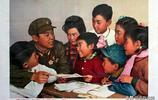 新中國老宣傳畫年畫,立志做堅強的革命後代,樂為支農出把力