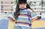 150矮個子女生的原宿風條紋T恤搭配,彰顯夏日青春活力