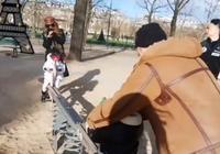 昆凌陪孩子在公園玩蹺蹺板,周杰倫看家人一臉寵溺像個老父親