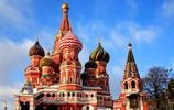 世界風景:俄羅斯瓦西里昇天教堂建築風景桌面壁紙