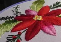 用魚骨針法繡一幅花卉作品 教程