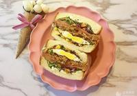 照燒雞肉煎蛋三明治