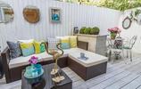 莫蘭迪色小空間庭院,色彩組合真的很棒