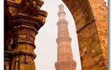 印度德里的庫特卜塔,享有盛名的阿育王柱就豎立在寺中
