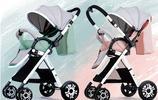 秋高氣爽用嬰兒車推著寶貝出門散步最舒適不過了,健康出行歡樂多