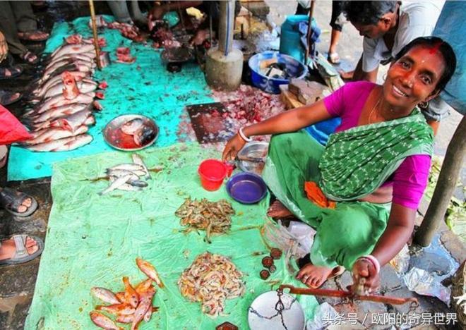 網友去印度菜市場買菜,大蝦上全是蒼蠅,逛了一圈他啥都不敢買