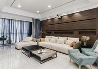 老公設計的現代簡約風格,低調奢華,單是背景牆我就被吸引住了