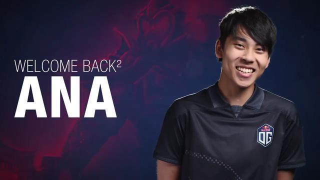 Dota2:辣個男人他終於回來了 OG官推宣佈一號位ANA重新歸位