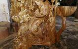 根雕之老香樟木荷塘月色|雲軒根藝