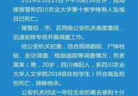 四川農業大學一在校大學生墜樓身亡 警方:排除他殺