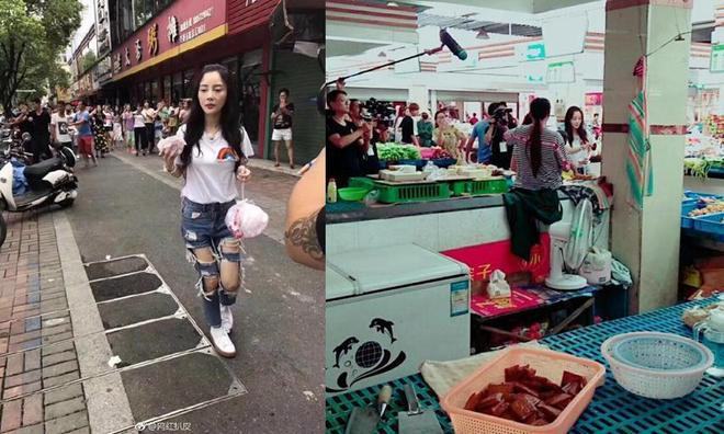 知名女星李小璐、李靜一起逛菜市場,倆人差11歲,卻像倆母女