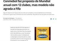 南美足聯擬定歐美各4隊踢世俱杯,歐冠亞軍獲名額
