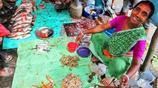 實拍:印度的菜市場,海鮮上面都是蒼蠅,看都看吐了!