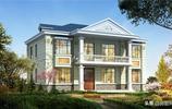 二層歐式雙拼,在農村如果有兩個兒子,這樣修建房子特別合情合理