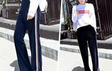 女生穿衣別太繁瑣,學院風衛衣搭絲絨闊腿褲,簡單隨性超減齡