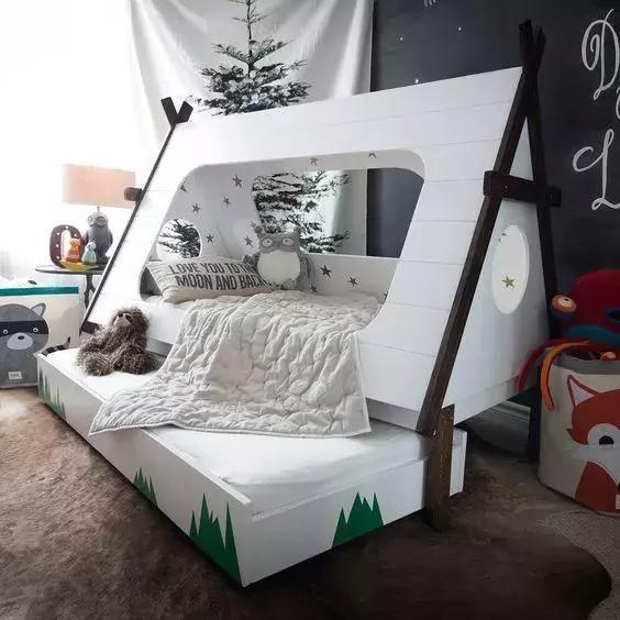 你把兒童房做得這麼有趣,你家孩子會非常喜歡的