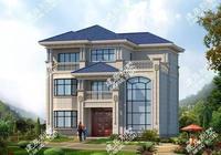 兩棟配複式客廳和落地窗的別墅,新農村自建房中的代表