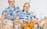 美國水彩畫家查爾斯 雷德的作品