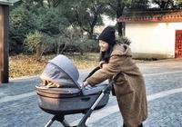 朱丹素顏首度帶寶寶出門放風,直誇外公的攝影技術不錯