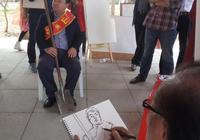 給好人作畫,劉大為等畫家在濰坊農村寫生
