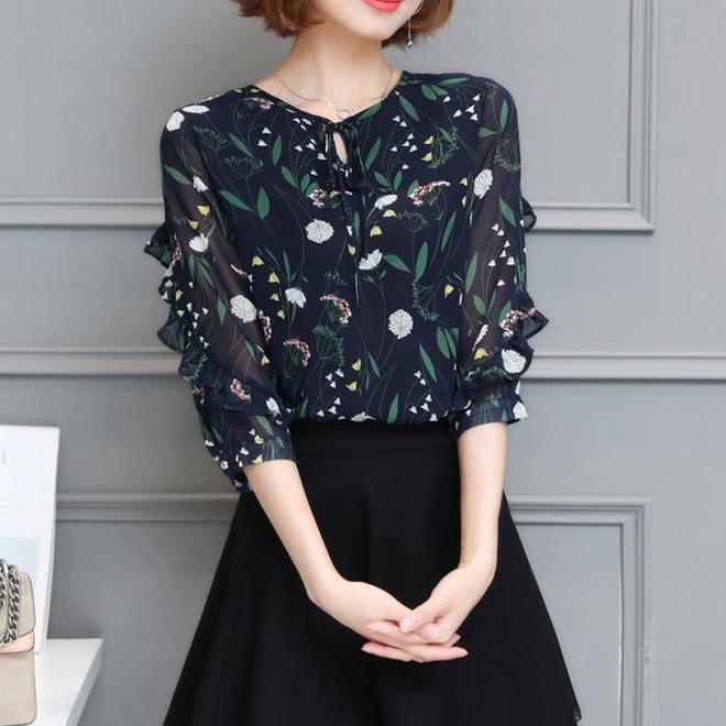 韓版顯瘦雪紡衫,你的身材真的是太美了