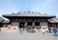 山西大同靈巖寺,按照酈道元《水經注》中的描述仿建的山堂水殿