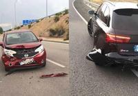 本澤馬再次發生車禍,所幸無人受傷