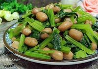 花生米熗香芹的家常菜做法